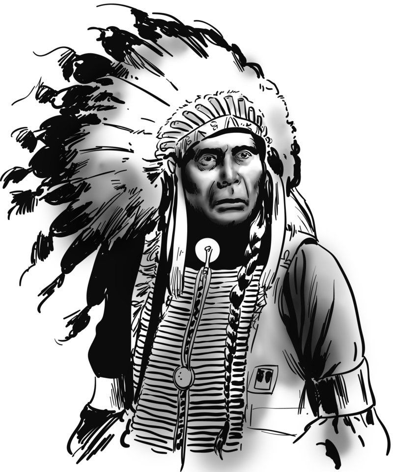 Indian Chief Drawing